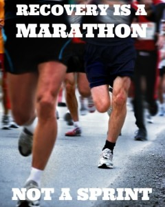 Marathon runners - blurred motion