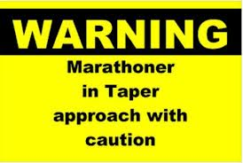 tapering-runner-warning